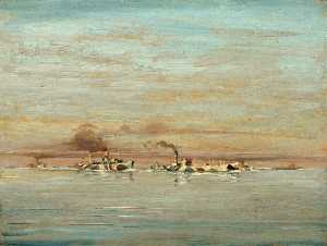 Geoffrey Stephen Allfree - A Convoy in the Channel