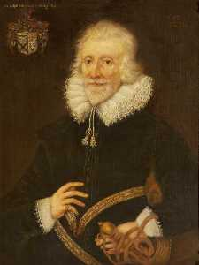 Rebecca Dulcibella Orpen - Sir Ralph Ellerker of Risby (b.1558 1559), at the Age of 73 (after an earlier painting from 1632)