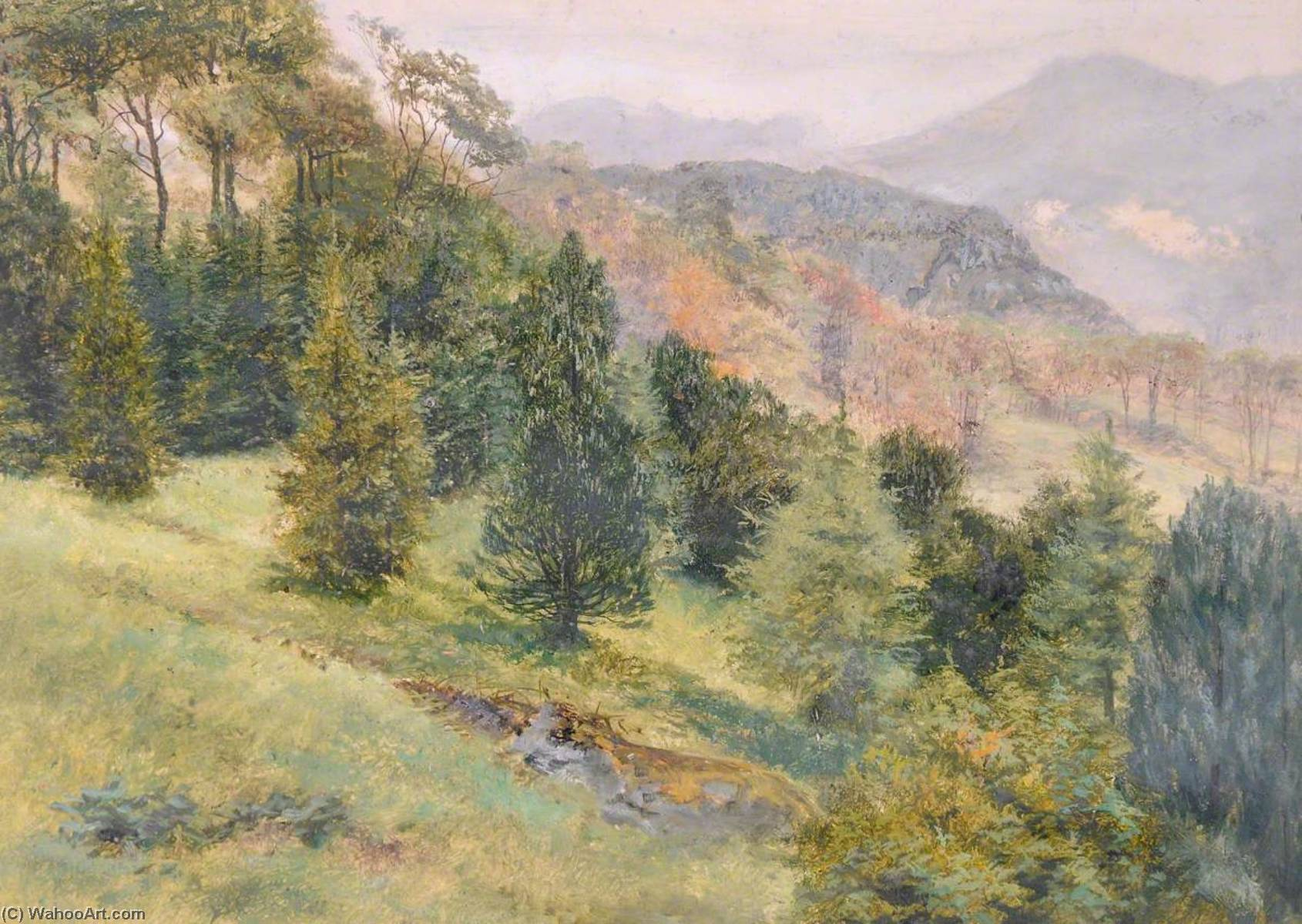 Beddgelert Vicarage, 1883 by Frederick William Hayes | Painting Copy | WahooArt.com