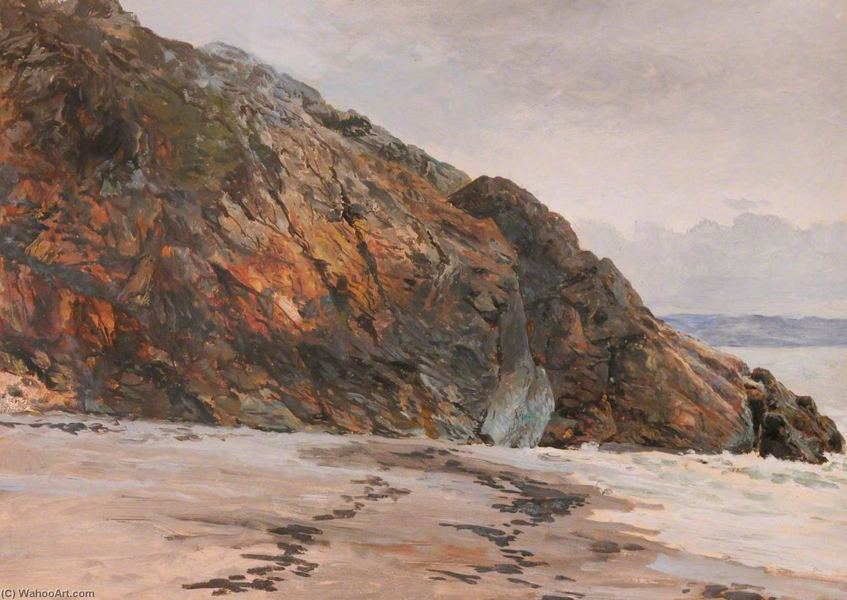 Order Art Reproductions | Twilight, Criccieth, 1880 by Frederick William Hayes | WahooArt.com