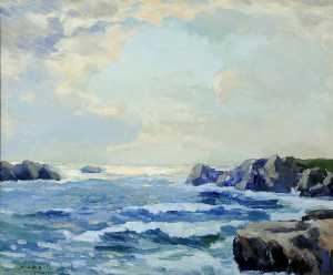 Francis William Synge Le Maistre - Seascape and Rocks