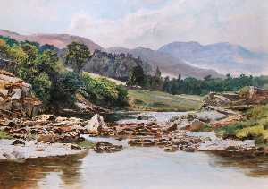 Frederick William Hayes - The Glaslyn River