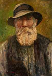 George Bain - Portrait of an Unknown Man with a Beard