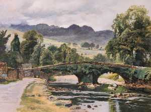 Frederick William Hayes - The Old Beddgelert Bridge