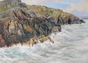 Frederick William Hayes - Craig Ddu, Cardigan Bay