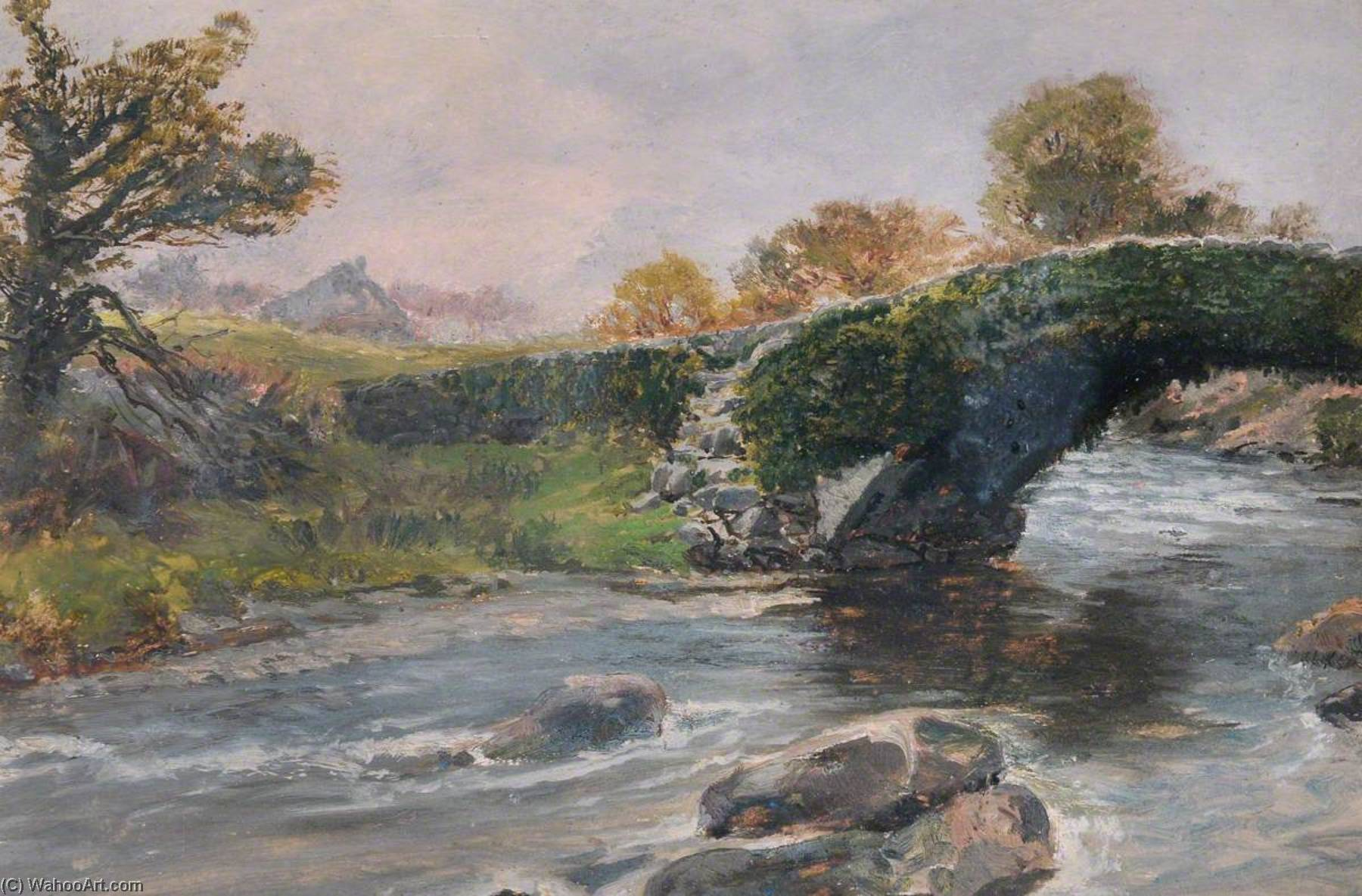 Pont Cim, 1899 by Frederick William Hayes | Art Reproductions Frederick William Hayes | WahooArt.com
