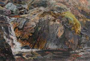 Frederick William Hayes - A Waterfall