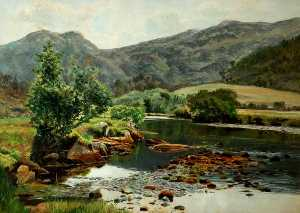 Frederick William Hayes - On the Glaslyn River