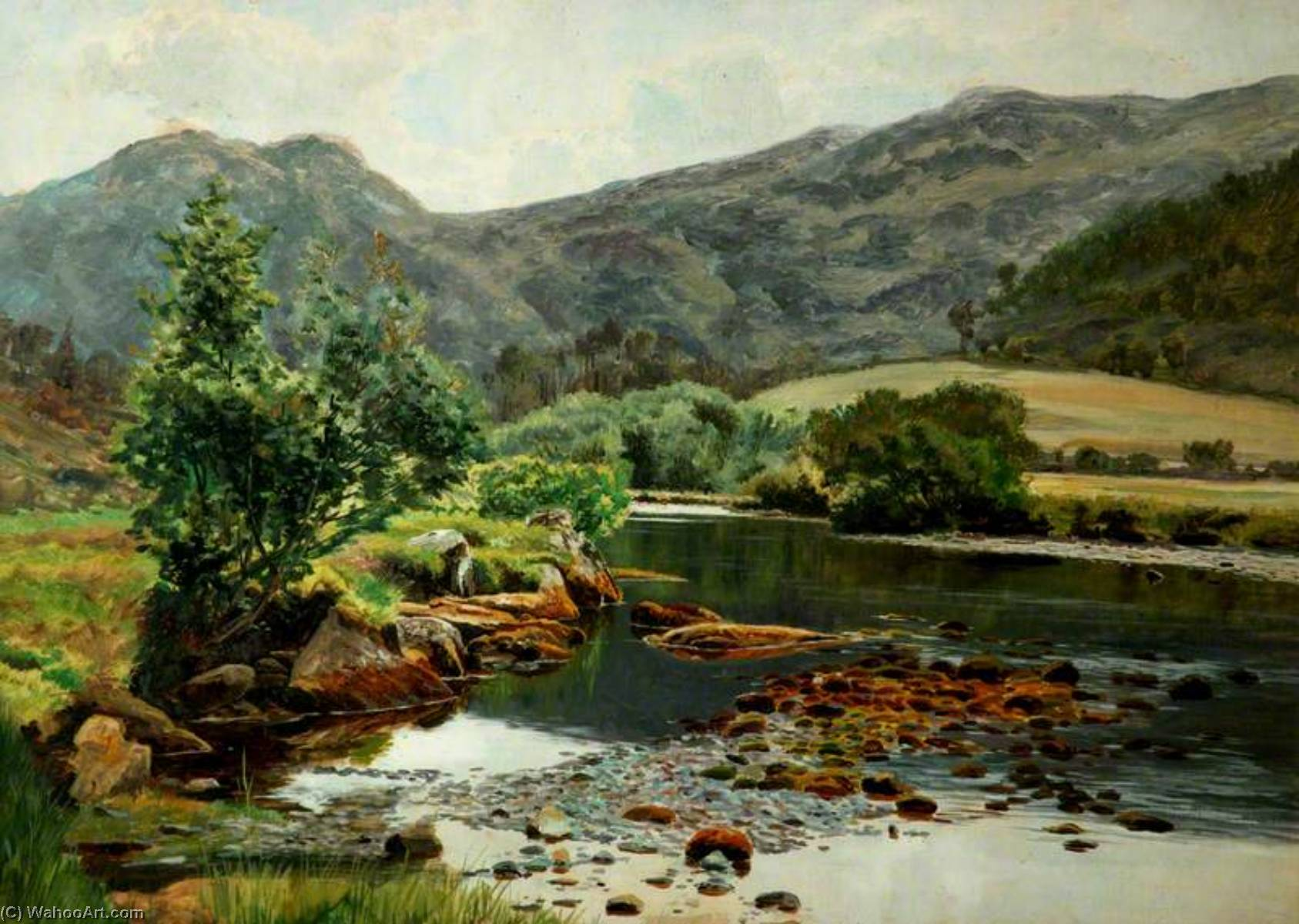 Buy Museum Art Reproductions | On the Glaslyn River, 1883 by Frederick William Hayes | WahooArt.com