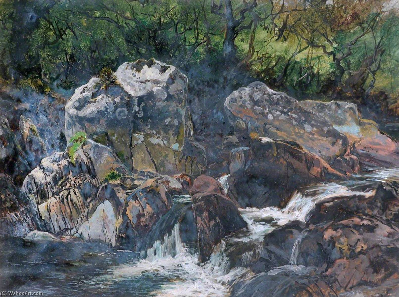 Rocks in the Colwyn, 1883 by Frederick William Hayes | Art Reproductions Frederick William Hayes | WahooArt.com