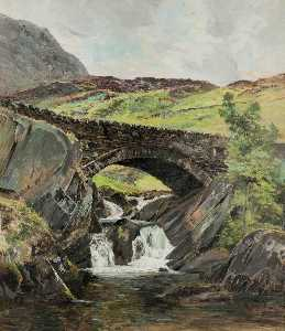 Order Reproductions | Nant Bridge, Caernarvonshire by Frederick William Hayes | WahooArt.com