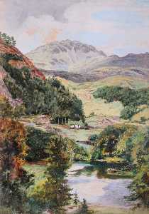 Frederick William Hayes - Entrance to Aberglaslyn Pass