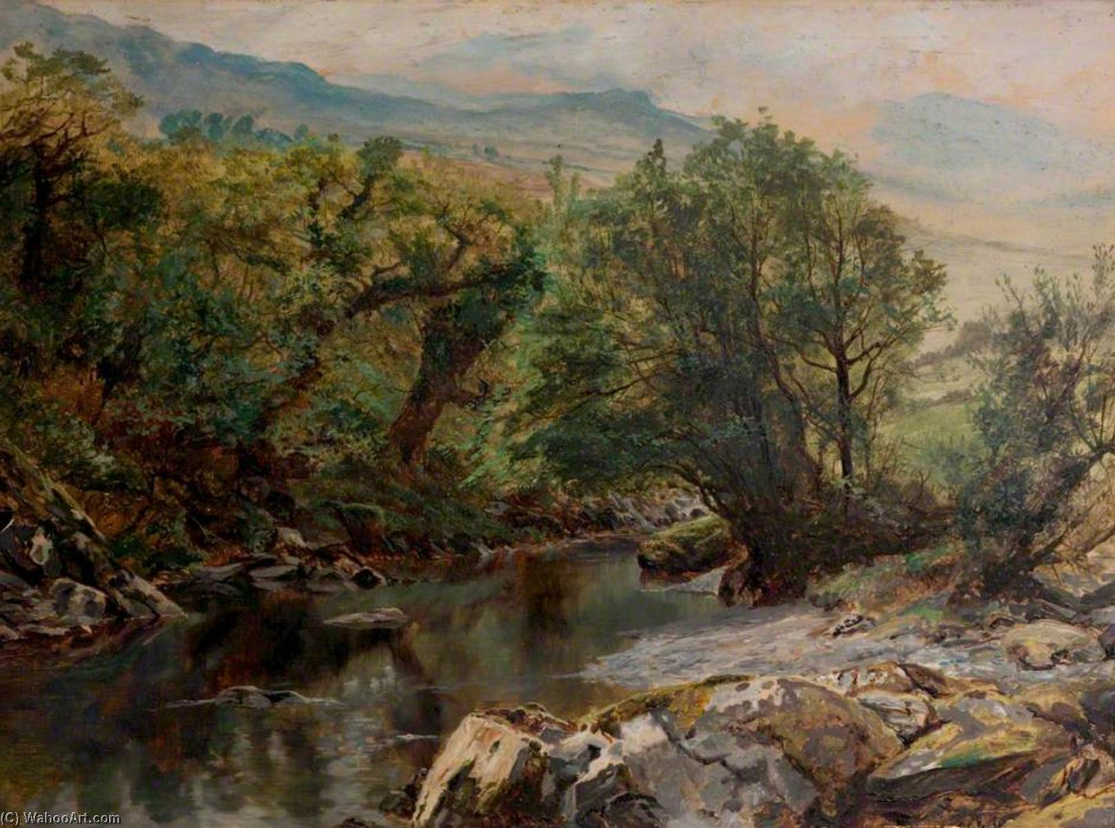 Pool in Colwyn by Frederick William Hayes | Museum Quality Copies Frederick William Hayes | WahooArt.com