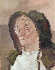Edmund Blampied - Old Lady in a Bonnet