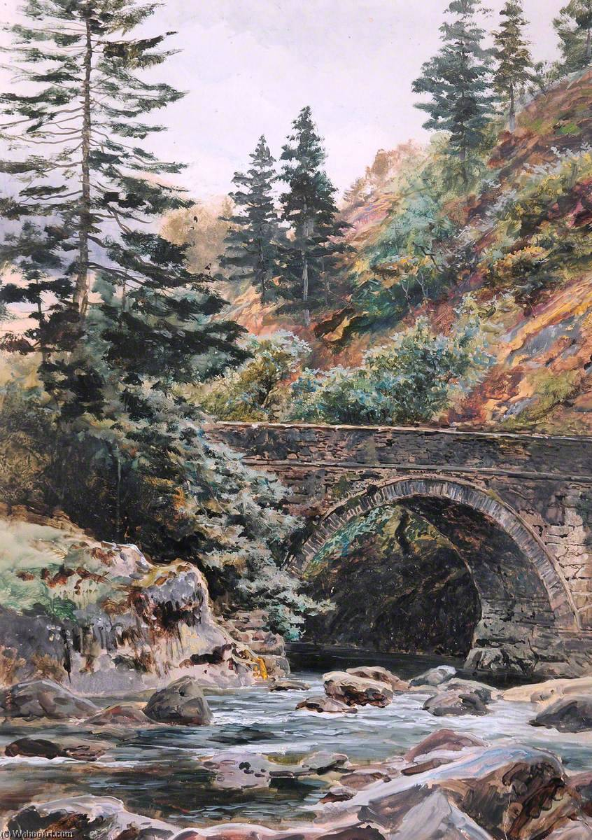 Pont Aberglaslyn by Frederick William Hayes | Museum Quality Reproductions | WahooArt.com