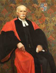 Order Art Reproductions | Mark James Barrington Ward (1844–1924), Inspector of Schools, Rector of Duloe and Canon of Truro Cathedral, 1921 by James Penniston Barraclough | WahooArt.com