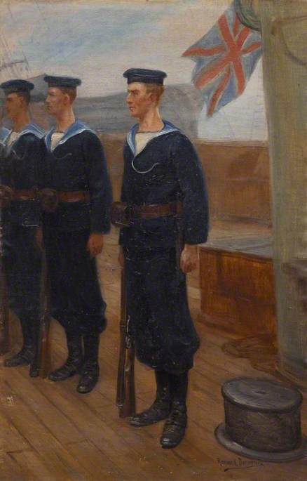 Three British Sailors, 1918 by Raymond Desvarreux (1876-1961) |  | WahooArt.com
