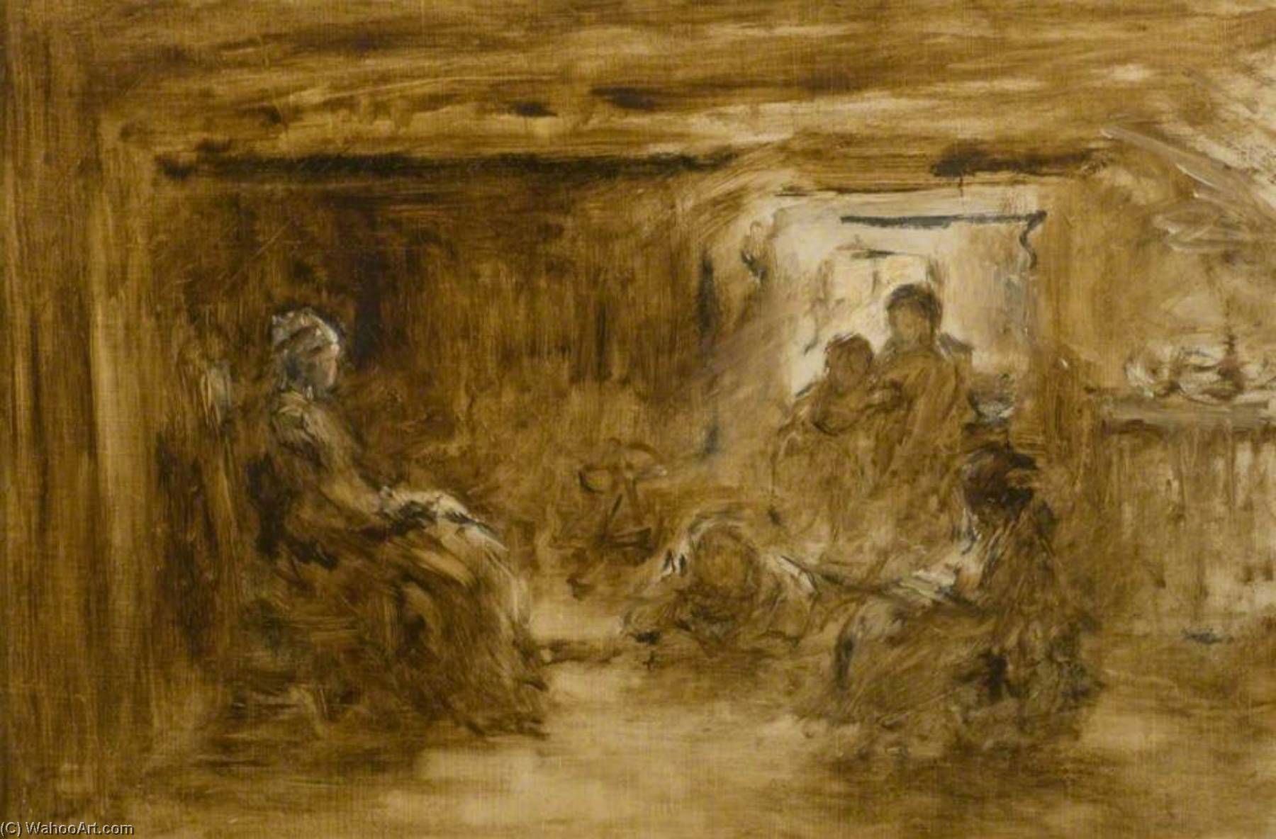 Early Sketch for `The Legend`, 1864 by George Paul Chalmers | Art Reproductions George Paul Chalmers | WahooArt.com