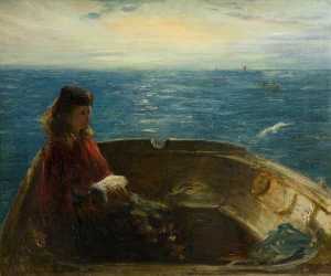 George Paul Chalmers - Girl in a Boat