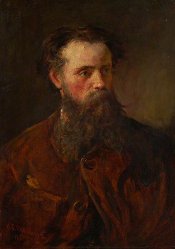 Waller Hugh Paton (1828–1895), Artist, 1867 by George Paul Chalmers | Paintings Reproductions George Paul Chalmers | WahooArt.com