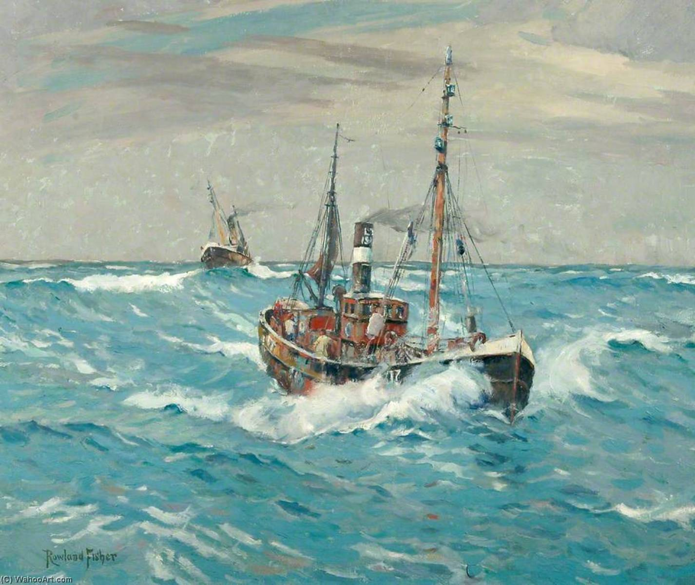Trawlers by Rowland Fisher | Art Reproduction | WahooArt.com