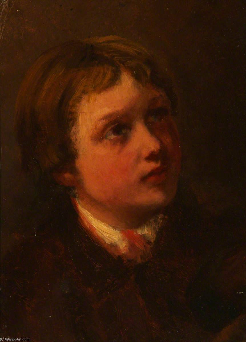 Order Reproductions | Study of a Child`s Head by George Paul Chalmers | WahooArt.com