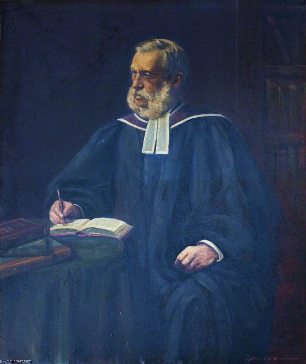 Reverend William Chalmers, DD, Professor (1868–1880), Principal of Westminster College (1880–1888), Oil On Canvas by John Archibald Alexander Berrie