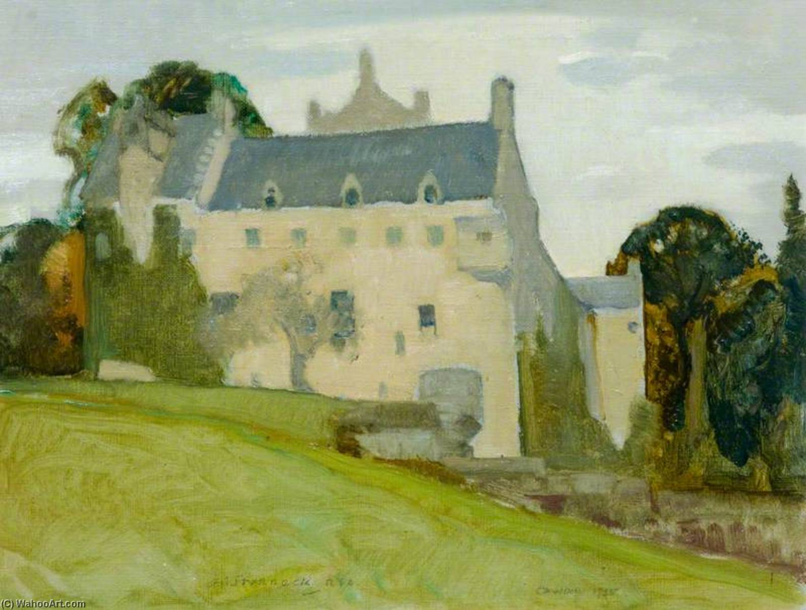 Cawdor Castle, Moray, Oil On Canvas by Alick Riddell Sturrock