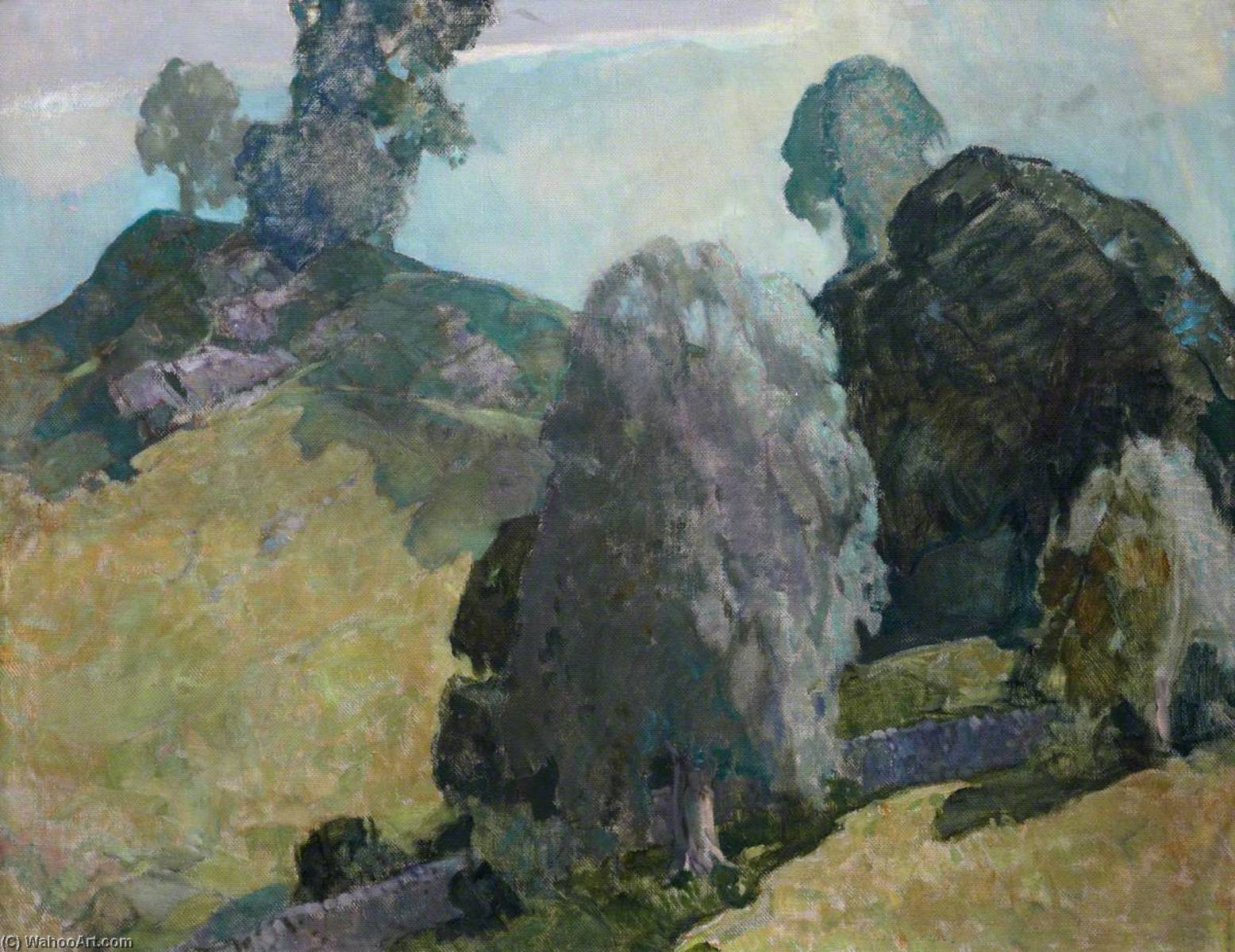 Landscape at Little Borland, 1932 by Alick Riddell Sturrock | Painting Copy | WahooArt.com