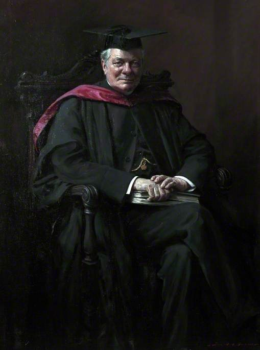 Reverend Cannon Morley Stevenson (1851–1930), President of Warrington Training College (1884–1923), Oil On Canvas by John Archibald Alexander Berrie