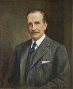 John Archibald Alexander Berrie - Osbert Cecil (1871–1930), 6th Earl of Sefton, in a Grey Suit