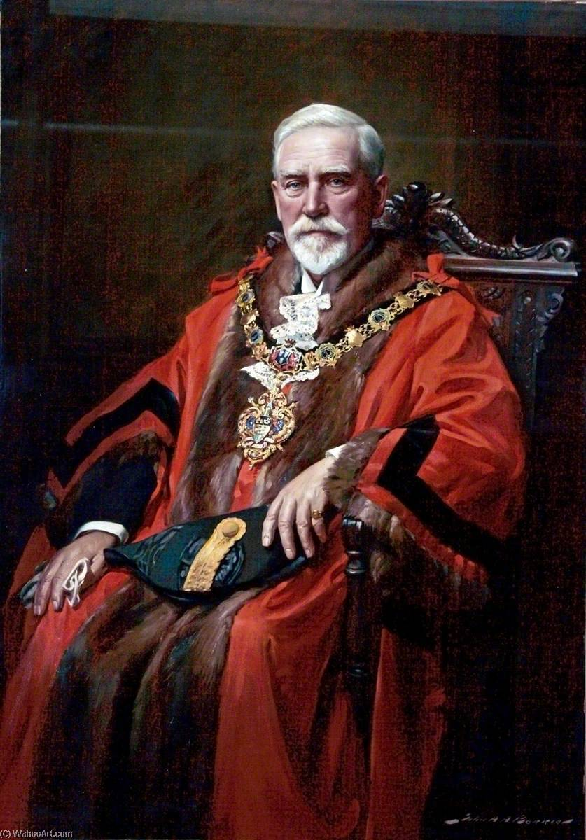 Alderman John Oldershaw, MD, JP, Mayor of Wallasey by John Archibald Alexander Berrie | Art Reproduction | WahooArt.com