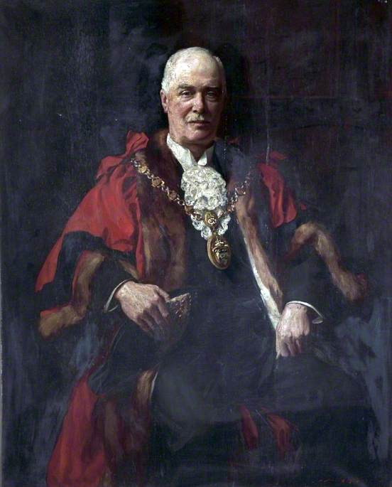 Robert Turner, Mayor of Bootle (1924), Oil On Canvas by John Archibald Alexander Berrie