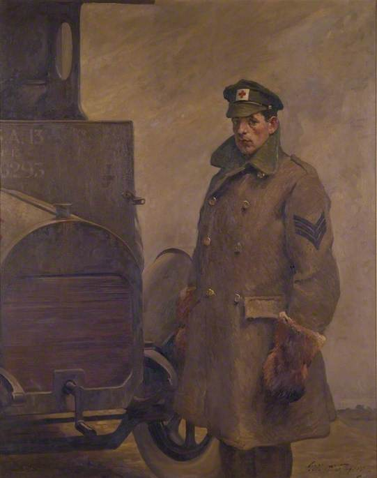 A British Red Cross Society and Order of St John of Jerusalem Motor Driver, 1919 by Gilbert Rogers | Museum Quality Reproductions | WahooArt.com