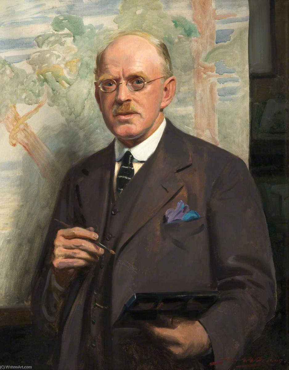 Oswald Garside (1879–1942), Oil On Canvas by John Archibald Alexander Berrie