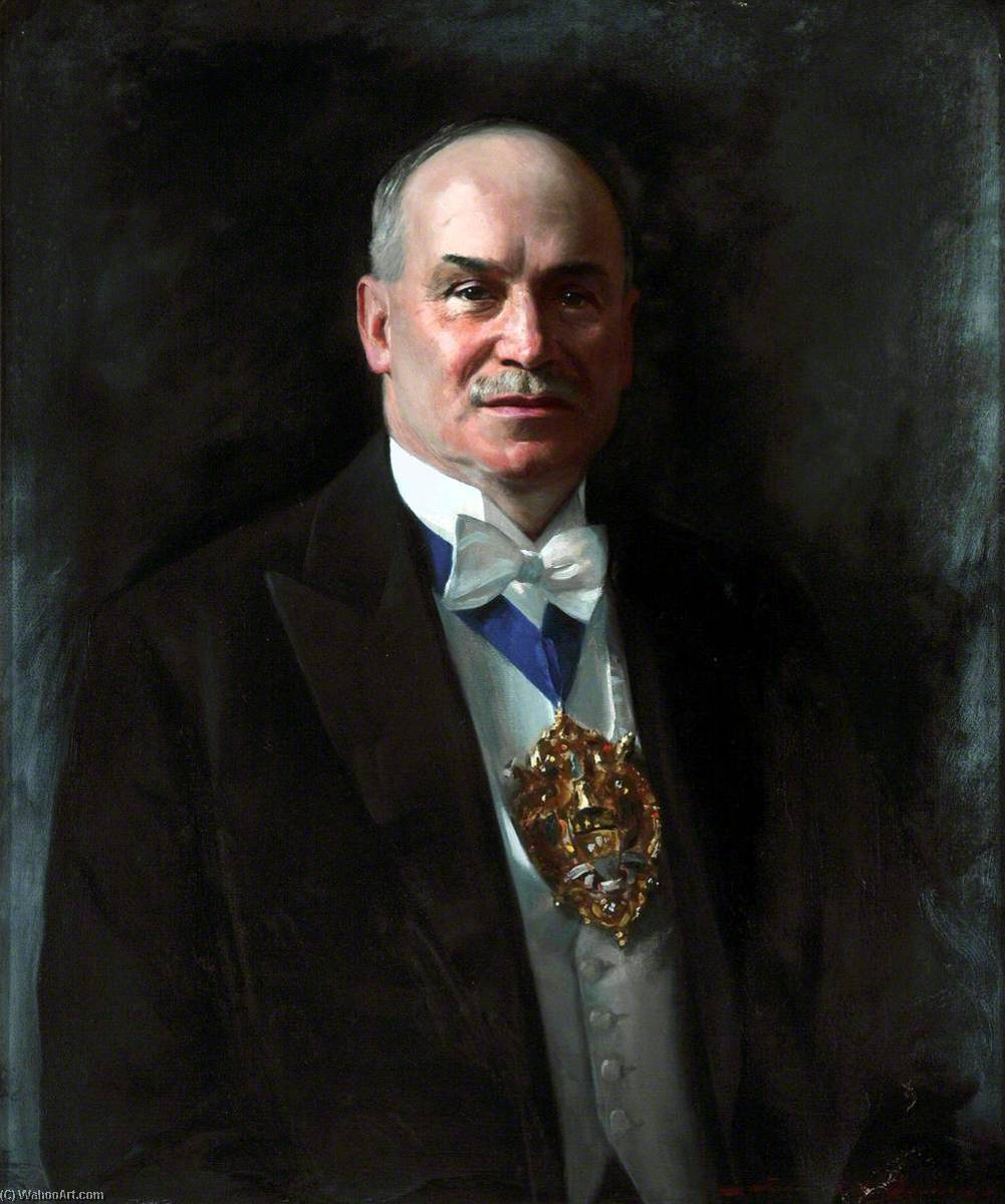 D. P. Charlesworth, Mayor of Wallasey, Oil On Canvas by John Archibald Alexander Berrie