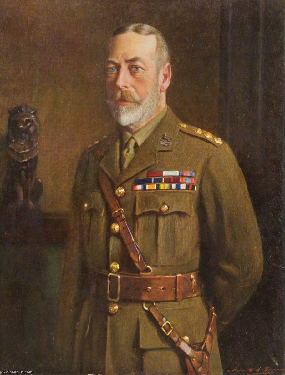 George V (1865–1936), as Colonel of the King's Regiment by John Archibald Alexander Berrie | WahooArt.com