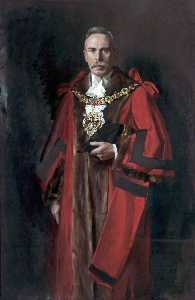 John Archibald Alexander Berrie - Alderman A. Wrigley, BA, JP, Mayor of Wallasey (1928–1929)