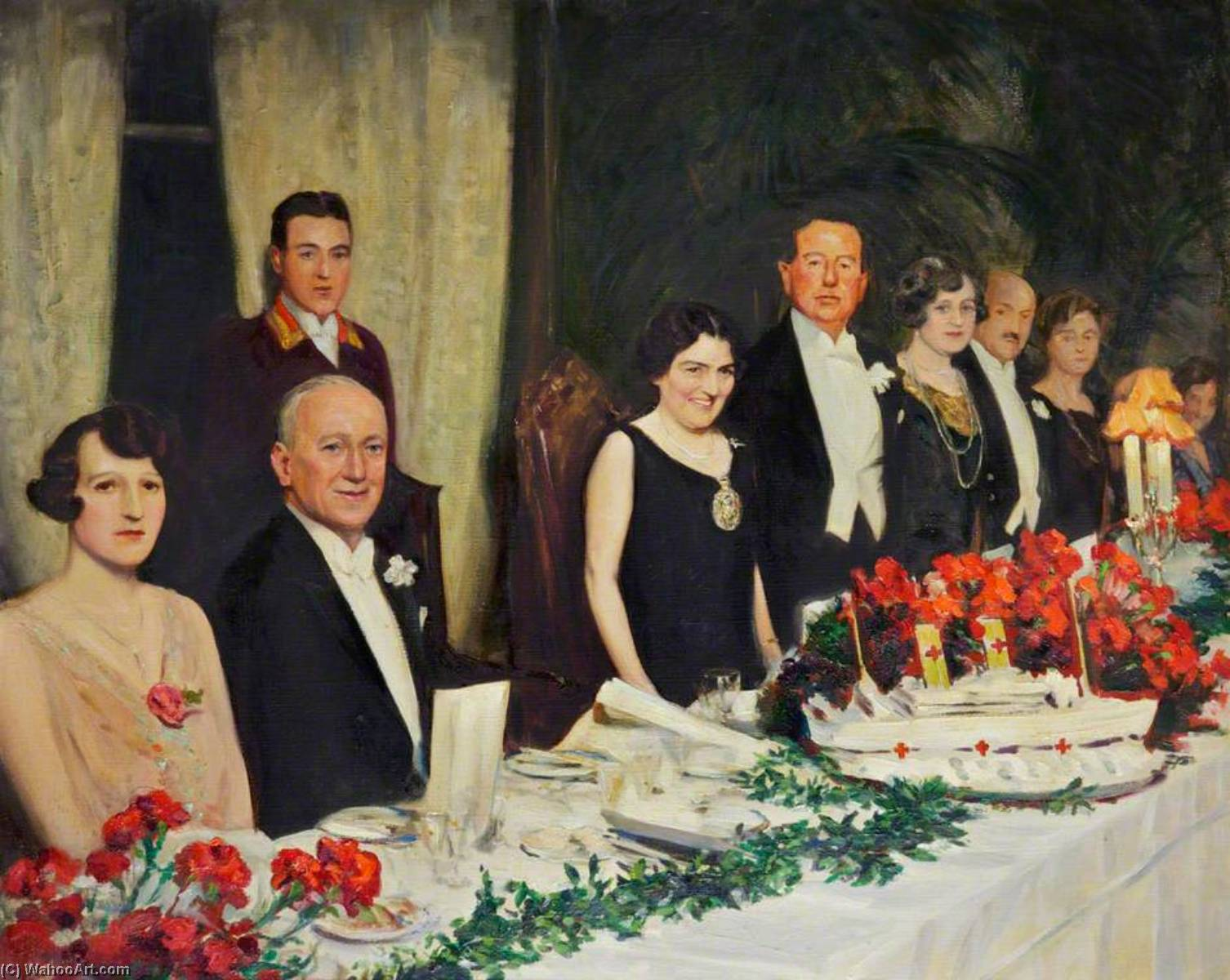 Margaret Beavan Speaking at a Charity Dinner in 1927, Oil On Canvas by John Archibald Alexander Berrie