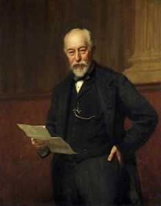Hugh Goldwin Riviere - The Right Honourable Sir John Edward Dorington (1832–1911), Bt, Chairman of Gloucestershire County Council (1889–1908)