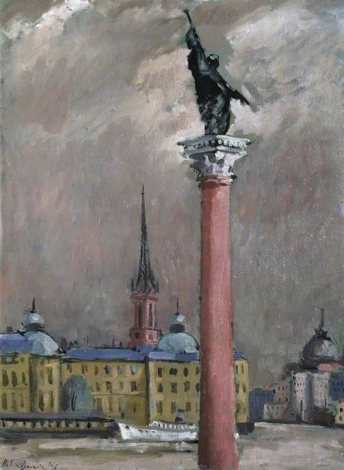 From the Town Hall, Stockholm, 1936 by Robin Darwin | Painting Copy | WahooArt.com