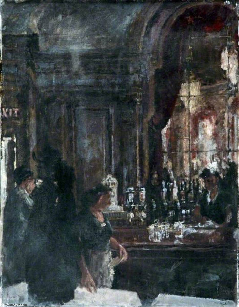 The Brasserie by Robin Darwin | Famous Paintings Reproductions | WahooArt.com
