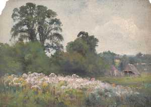 William Henry Hope - Meadows near Oxted, Surrey