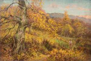 William Henry Hope - Autumn in Addington Park, Croydon, Surrey