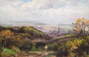 William Henry Hope - From the Fields Leading from Fox Farm to Sanderstead, Croydon, Surrey