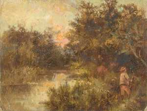 William Henry Hope - Evening on the Wandle