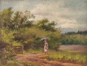 William Henry Hope - From the Footpath to Selsdon, Croydon, Surrey, Looking Back