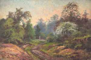William Henry Hope - Looking from the Gravel Pit to Coombe Road, at the Foot of the Addington Hills, Croydon, Surrey