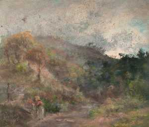 William Henry Hope - Landscape with Figures