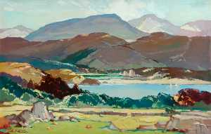 Leonard Richmond - Wales (Great Western Railway London, Midland and Scottish Railway poster artwork)